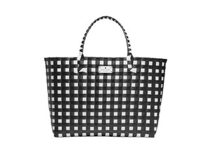 Kate Spade New Large Genuine Tote in black and white