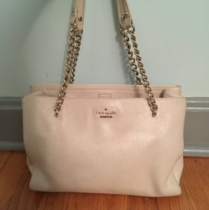 Kate Spade Phoebe Gold Hardware Leather Tote in Porcini
