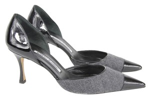Manolo Blahnik Gray and Black Pumps