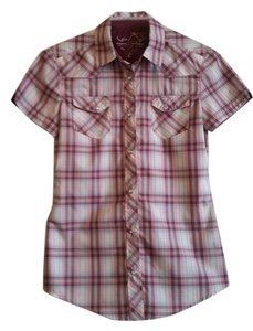 Kühl Plaid Short-sleeved Top Pink