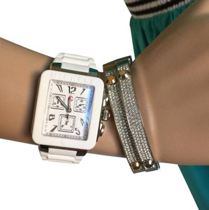 Michele NWT PARK JELLY BEAN SILVER/ White WATCH MWW06L000001