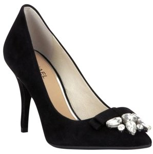 Michael Kors Suede Crystals Rhinestone Black Pumps