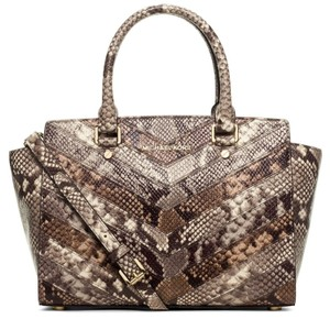 Michael Kors Satchel in Snake / Natural