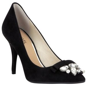 Michael Kors Suede Leather Crystals Rhinestones Black Pumps