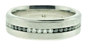DIAMONDSY Designer 14k White gold band with black and white diamonds - Wholesale