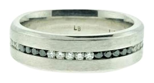 Other Designer 14k White gold band with black and white diamonds - Wholesale