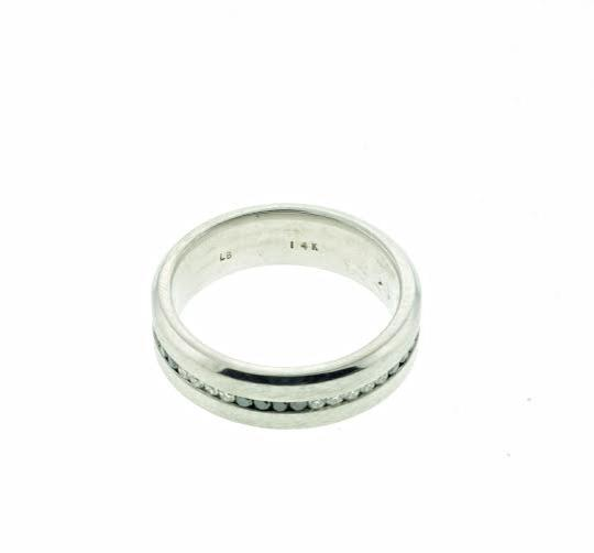 Other Designer 14k White gold band with black and white diamonds - Wholesale Image 1