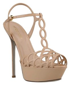 Sergio Rossi Nude Patent Leather Platforms