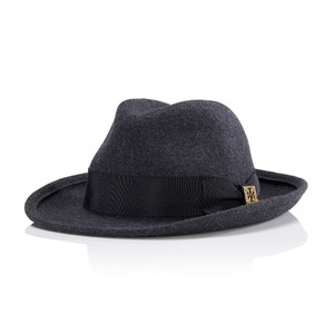 Tory Burch Classic Walking Fedora Hat, Charcoal Gray