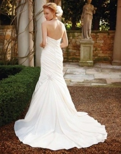 Casablanca Ivory Perfecting Satin 2037 Wedding Dress Size 2 (XS)