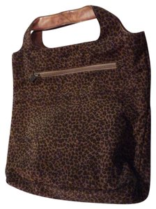 Bottega Veneta Early Bv Style Xl Tote/Satchel Mint Vintage Rare Great Printed Accent Tote in Animal/Leopard print Silk & Leather