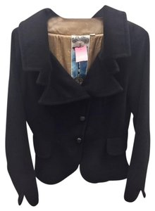L.A.M.B. Wool Leather Black Jacket