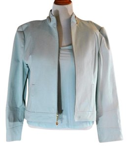 St. John Sport by Marie Gray St John Sport by Marie Gray Light Aqua Jacket Pants Top New With Tags