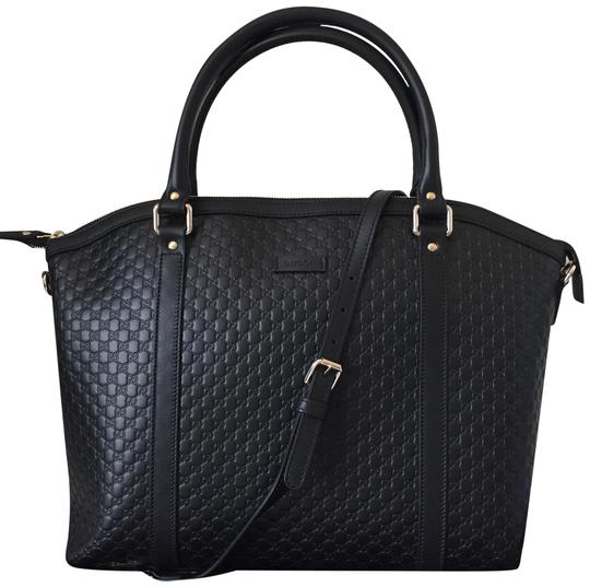Preload https://img-static.tradesy.com/item/20225611/gucci-gg-guccissima-leather-with-strap-black-satchel-0-3-540-540.jpg