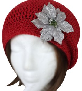 Other Silver Poinsettia Winter Holiday Hat