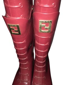 Fendi Red Boots