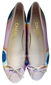 Chanel Quilted Python Pink Flats