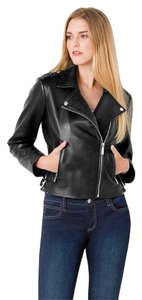 Michael Kors Zipper Silver Motorcycle Jacket