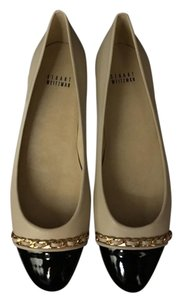 Stuart Weitzman Beige and Black Flats