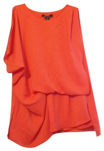 Kenneth Cole Draped Tunic Top Tiger lily