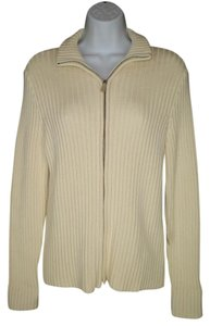 Lauren Ralph Lauren Cotton Ribbed Zipper Sweater Cardigan