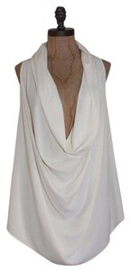 FATE Draped Cowl Neck Top ivory