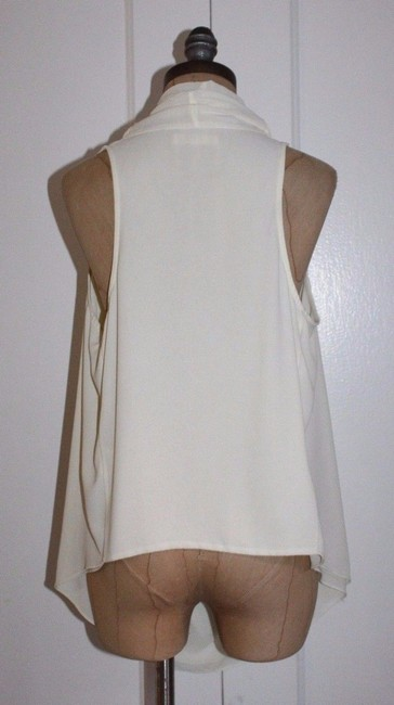 FATE Draped Cowl Neck Top ivory Image 2