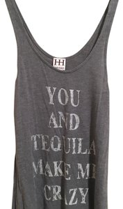 Haute Hippie Top Heather grey