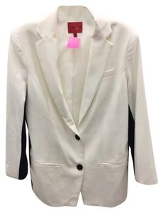 Narciso Rodriguez Color-blocking Cream/Black Blazer