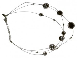 New York & Company New York & Company Black and Silver Necklace