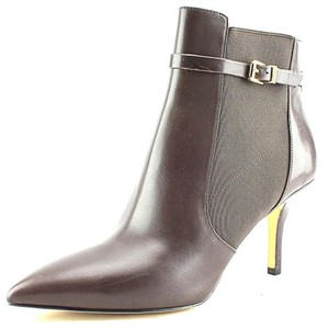 Michael Kors Leather Pointed Toe Chocolate Brown Boots