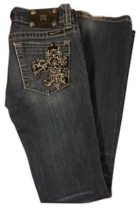 Miss Me Boot Cut Pants Blue/rhinestones