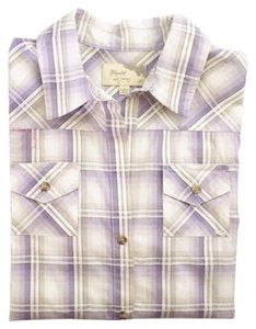 Elizabeth and James Button Down Shirt Lavender