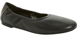 Eileen Fisher Padded Nappa Leather Slip On Black Flats