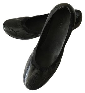 Gucci Monogram Ballerina Everyday Wear Black Flats