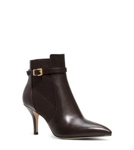 Michael Kors Leather Ankle Black Boots