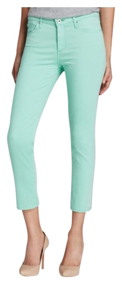 3dc37f037573 AG Adriano Goldschmied Mint Green Prima Crop Skinny Jeans Size 28 (4 ...