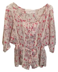Guess Top Pink floral