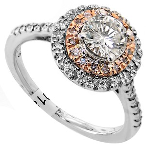 ABC Jewelry 1.05 Ct Brilliant Cut Accented Diamond Engagement Ring