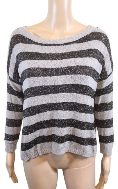Joie Boucle Plus Stripes Anthropologie Boxy Sweater Image 0