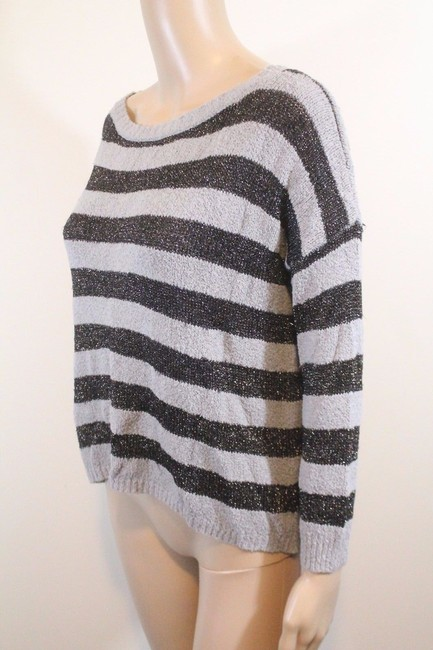 Joie Boucle Plus Stripes Anthropologie Boxy Sweater Image 1