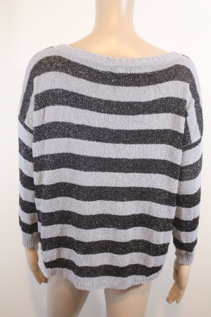 Joie Boucle Plus Stripes Anthropologie Boxy Sweater Image 3