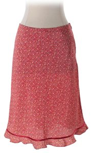 Express Junior Polyester Casual Skirt Red