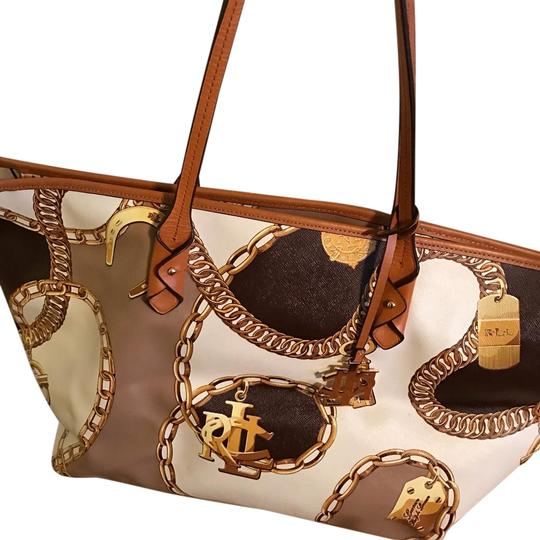 Preload https://img-static.tradesy.com/item/20226299/ralph-lauren-collection-browngold-leather-tote-0-1-540-540.jpg