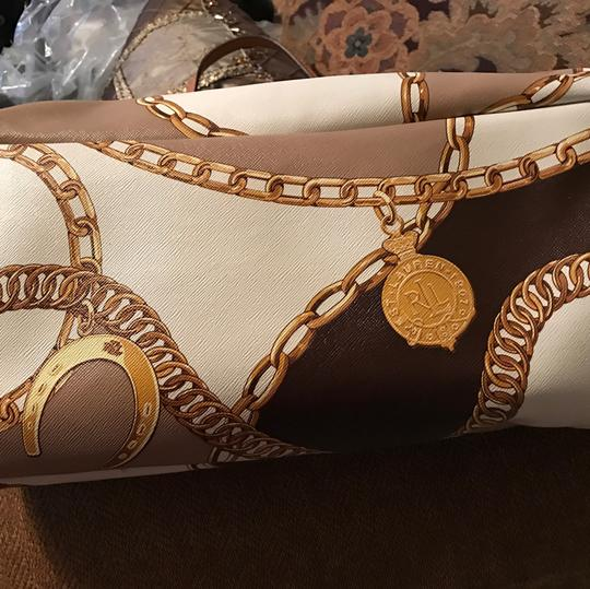 Ralph Lauren Collection Tote in Brown/gold Image 4