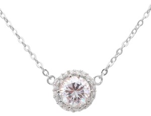 9.2.5 Unique white topaz halo necklace