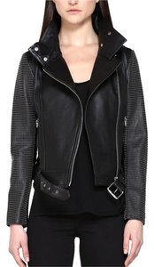 Mackage Studded Moto Leather Motorcycle Jacket