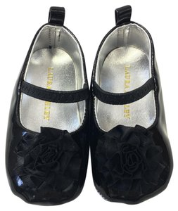 Laura Ashley Patent Mary Jane Baby Winter BLACK Flats