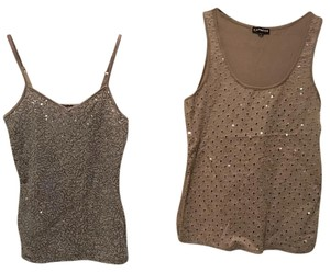 Express Top Silver and tan