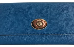 Coach F52345 Slim Envelope Wallet With Pop-up Pouch in Embossed
